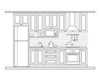 Дизайн интерьера, кухня Стоковые Фотографии RF