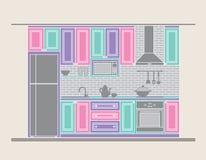 Дизайн интерьера: кухня Стоковая Фотография