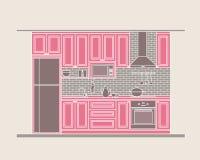 Дизайн интерьера: кухня Стоковые Изображения RF