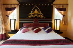 Дизайн интерьера спальни Стоковое Изображение