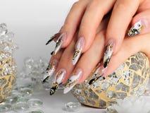 Дизайн искусства ногтей Стоковые Изображения RF