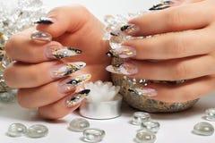 Дизайн искусства ногтей Стоковая Фотография RF