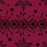 Дизайн искусства флористический в красной предпосылке Стоковые Изображения