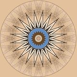 Дизайн искусства цифров, звезда на беже против голубого неба Стоковые Фотографии RF