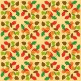 Дизайн лист осени над белой желтой предпосылкой Стоковая Фотография