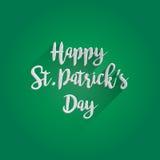 Дизайн литерности дня счастливого St. Patrick Стоковое Изображение