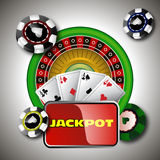 Дизайн и джэкпот казино стоковые изображения rf