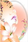 Дизайн и линия искусства дамы тайские Стоковая Фотография