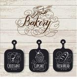 Дизайн и хлебопекарня меню хлебопекарни вручают вычерченную иллюстрацию вектора Ретро шаблон меню ресторана крышки Стоковая Фотография