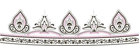 Дизайн иллюстрации вышивки традиционный Стоковое Изображение RF