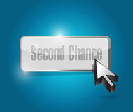 Дизайн иллюстрации кнопки второй шанс иллюстрация вектора