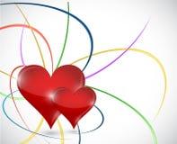 Дизайн иллюстрации концепции сердец влюбленности иллюстрация вектора