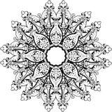 Дизайн иллюстрации мандалы этнический индийский Стоковые Фото