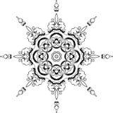 Дизайн иллюстрации мандалы этнический индийский Стоковая Фотография RF