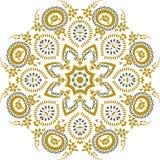 Дизайн иллюстрации мандалы этнический индийский Стоковое Изображение
