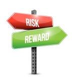 Дизайн иллюстрации дорожного знака вознаграждением риска иллюстрация штока
