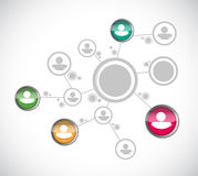 Дизайн иллюстрации сети диаграммы людей Стоковое фото RF