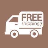 Дизайн иллюстрации символа значка бесплатной доставки Стоковые Изображения RF