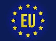 Дизайн иллюстрации флага Европейского союза бесплатная иллюстрация