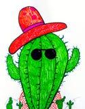 Дизайн кактуса Doodle Стоковое Изображение