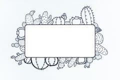 Дизайн кактуса Doodle Стоковая Фотография