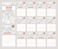дизайн 2018 календарей Стоковые Фото