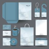 Дизайн канцелярских принадлежностей установленный/шаблон канцелярских принадлежностей Стоковые Фото