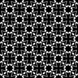 Дизайн картины вектора черно-белый безшовный Стоковое Изображение