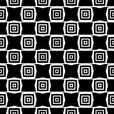 Дизайн картины вектора черно-белый безшовный Стоковое Фото
