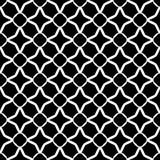 Дизайн картины вектора черно-белый безшовный Стоковое фото RF