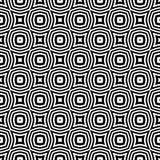 Дизайн картины вектора черно-белый безшовный Стоковая Фотография RF