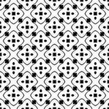 Дизайн картины вектора черно-белый безшовный Стоковые Фото