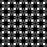 Дизайн картины вектора черно-белый безшовный Стоковые Изображения RF