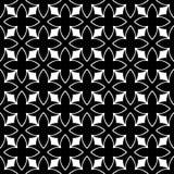 Дизайн картины вектора черно-белый безшовный Стоковое Изображение RF