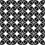 Дизайн картины вектора черно-белый безшовный Стоковая Фотография