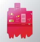 Дизайн картины коробки для упаковки Стоковые Изображения RF