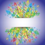 Дизайн картины красочной предпосылки геометрический, иллюстрация Стоковые Изображения RF