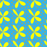 Дизайн картины повторения красивых цветков безшовный Стоковое Изображение RF