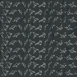 Дизайн картины Origami безшовный Стоковое Изображение