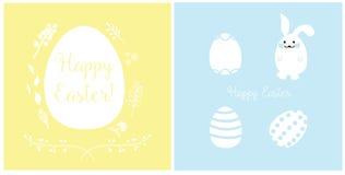 Дизайн карточек пасхи стоковые изображения rf