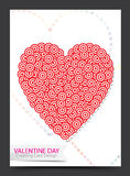 Дизайн карточки валентинки Стоковое фото RF