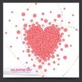 Дизайн карточки валентинки Стоковые Изображения RF