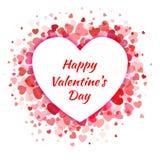 Дизайн карточки дня валентинок при розовые сердца изолированные на белой предпосылке Полюбите день EPS10 ` s валентинки иллюстрац Стоковая Фотография RF