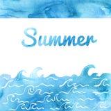 Дизайн карточки лета Иллюстрация вектора