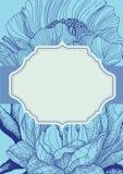 Дизайн карточки лилии Стоковое Фото