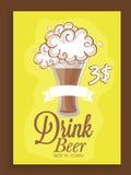 Дизайн карточки меню для бара пива Стоковая Фотография RF
