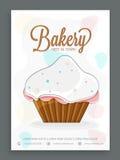 Дизайн карточки меню для хлебопекарни Стоковые Изображения
