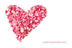 Дизайн карточки дня валентинки Стоковые Фотографии RF