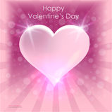Дизайн карточки плаката сердца дня ` s валентинки яркий абстрактная предпосылка 14-ое февраля Стоковое фото RF