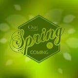 Дизайн карточки стильной весны сезонный Стоковые Фото